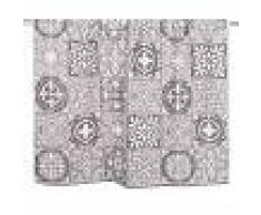 Maisons du Monde Telo da bagno in cotone a motivi piastrelle, 100x150