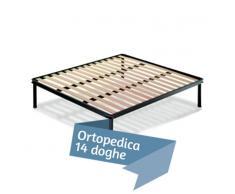 Rete ortopedica a doghe in Legno di faggio 140x190 Matrimoniale Francese