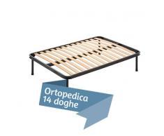 Rete ortopedica a doghe in Legno di faggio 120x200 Piazza E Mezza