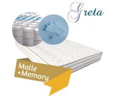 GRETA – Materasso extra lusso a molle insacchettate con Memory modello Fenice 180x200 Matrimoniale Xxl