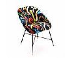 SELETTI sedia imbottita TOILETPAPER PADDED CHAIR (Snakes - Tessuto in poliestere, struttura in legno, poliuretano e metallo)