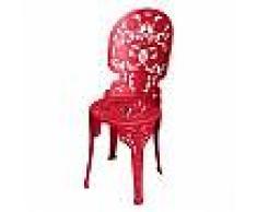 SELETTI sedia INDUSTRY GARDEN (Rosso - Alluminio)