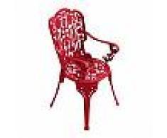 SELETTI sedia con braccioli INDUSTRY GARDEN (Rosso - Alluminio)