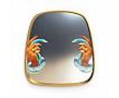SELETTI specchio da parete MIRRORS GOLD FRAME TOILETPAPER L 54 x H 59 cm (Hands with snakes - Vetro, MDF e ottone)