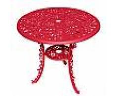 SELETTI tavolo tondo INDUSTRY GARDEN (Rosso - Alluminio)
