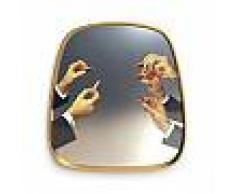 SELETTI specchio da parete MIRRORS GOLD FRAME TOILETPAPER L 54 x H 59 cm (Lipsticks - Vetro, MDF e ottone)