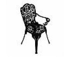 SELETTI sedia con braccioli INDUSTRY GARDEN (Nero - Alluminio)