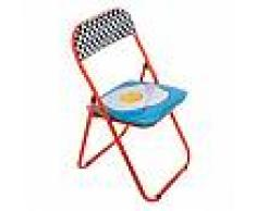SELETTI sedia pieghevole FOLDING CHAIR STUDIO JOB-BLOW (Egg - Metallo e PVC)