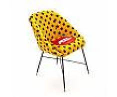 SELETTI sedia imbottita TOILETPAPER PADDED CHAIR (Shit - Tessuto in poliestere, struttura in legno, poliuretano e metallo)