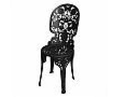 SELETTI sedia INDUSTRY GARDEN (Nero - Alluminio)