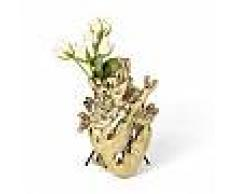SELETTI vaso a forma di cuore LOVE IN BLOOM GOLD (Oro - Porcellana)