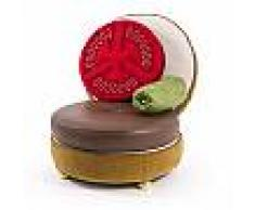 SELETTI poltrona imbottita BURGER CHAIR (Complete - Tessuto, metallo, poliuretano, legno e resina)