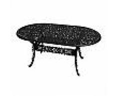 SELETTI tavolo ovale INDUSTRY GARDEN (Nero - Alluminio)