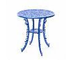SELETTI tavolo tondo INDUSTRY GARDEN (Sky blue - Alluminio)