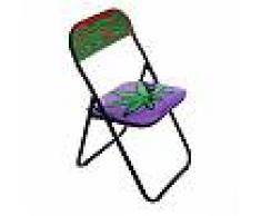 SELETTI sedia pieghevole FOLDING CHAIR STUDIO JOB-BLOW (Weed - Metallo e PVC)