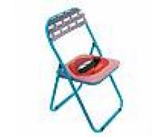 SELETTI sedia pieghevole FOLDING CHAIR STUDIO JOB-BLOW (Mouth - Metallo e PVC)