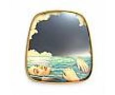 SELETTI specchio da parete MIRRORS GOLD FRAME TOILETPAPER L 54 x H 59 cm (Sea girl - Vetro, MDF e ottone)