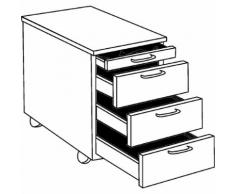 office akktiv STATUS - Cassettiera con rotelle, cassetto portacancelleria, 3 cassetti portamateriale