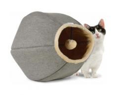 Cat Cave Linen: 1 Cuccia Tortora/Beige