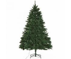 Albero Di Natale Artificiale 210 Cm 700 Luci Led Verde Benzoni...