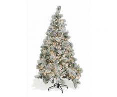 Albero Di Natale Luminoso Innevato 570 Rami 180 Led Bianco Caldo Ø...