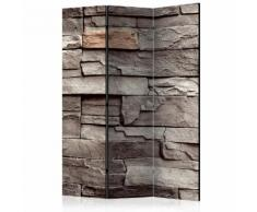 Paravento 3 Pannelli - Wall Of Silence 135x172cm Erroi...