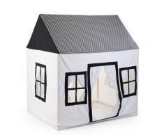 Tenda Gioco in cotone Big House Black&White - Childhome