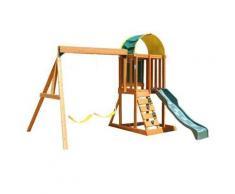 Ponte Gioco in legno con scivolo sabbiera ed altalena doppia Ainsley – KidKraft