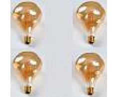 Luci Da Esterno Kit 4 Lampade decorative a LED tipo globo schiacciata 5W passo E27