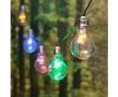 Luci Da Esterno Catena luminosa 5 m Party, decorata con 10 lampade a Bulbo Mini LED Multicolor, prolungabile