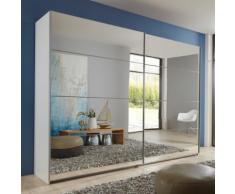 Armadio Nigella in bianco opaco e specchio
