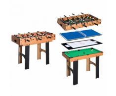 Tavolo Multi Gioco 4 In 1 Calcio Balilla Hockey Ping Pong E Biliar...