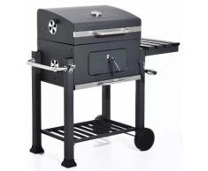 Barbecue A Carbone Carbonella Con Coperchio 115x56x108 Cm Manieri Texas Nero