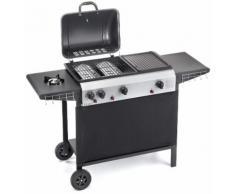Barbecue A Gas Gpl Con Pietra Lavica 3 Fuochi Ompagrill 4080 Double