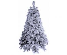 Albero Di Natale Artificiale Innevato 240 Cm 2850 Rami 750 Led Bianco Freddo Manieri Elbert