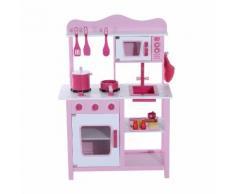 Cucina Giocattolo Per Bambini In Legno Rosa 60x30x84.5 Cm Benzoni