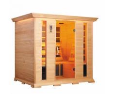 Sauna Finlandese Ad Infrarossi 3-4 Posti 210x160 Cm In Legno Di Ce...