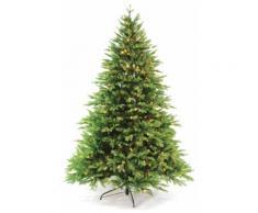 Albero Di Natale Luminoso 3405 Rami 500 Led Bianco Caldo Ø132xh210cm Manieri Abetone Grenn