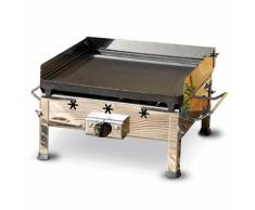 Barbecue Fornello A Gas Gpl Con Piastra In Ghisa Asportabile Ferraboli Plancha Inox