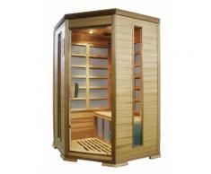 Sauna Finlandese Ad Infrarossi 2-3 Posti 120x118 Cm In Legno Di Ce...