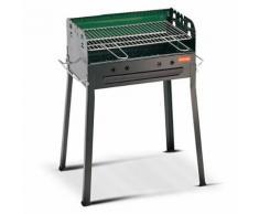 Barbecue A Carbone Carbonella Con Griglia Regolabile 56x35cm Ferra...