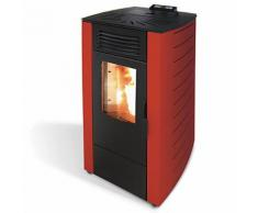 Stufa A Pellet Ad Aria 10.0kw 230m3 King 12 Bordeaux