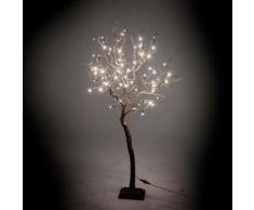 Albero Di Natale Luminoso Con 78 Led Luce Calda 17x17xh123cm Adami Marrone
