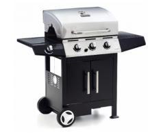 Barbecue A Gas Gpl 3 Bruciatori Pietra Lavica Fornello Laterale So...