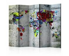 Paravento 5 Pannelli - Graffiti World 225x172cm Erroi...