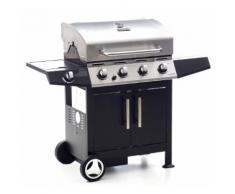 Barbecue A Gas Gpl 4 Bruciatori Pietra Lavica Sochef Golosone 4 Ne...