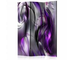 Paravento 3 Pannelli - Purple Swirls 135x172cm Erroi...