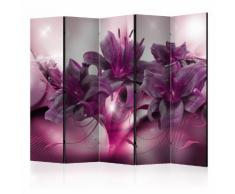 Paravento 5 Pannelli - The Purple Flame Ii 225x172cm Erroi...