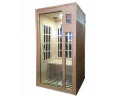 Sauna Finlandese Ad Infrarossi 2 Posti 90x90 Cm In Legno Di Hemloc...
