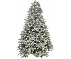 Albero Di Natale Artificiale Innevato 240 Cm 4990 Rami 650 Led Bianco Caldo Manieri Abetone